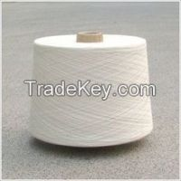 40s Raw white polyester yarn for grey fabric for india market