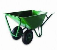 Twin-wheeled Huge Tray Wheelbarrow