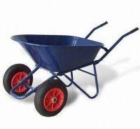 Steel tray dumpwheelbarrow with twin-wheels