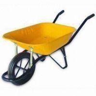 Wheelbarrow with Heavy-duty Steel Tray