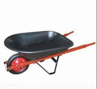 plastic  Tray   and wooden handle wheel barrows