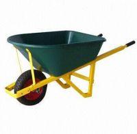 Pb-free/UV-resistant Powder-coated Wheelbarrow with 16-inch x 4.00-8 Wheel and 114L Water Capacity