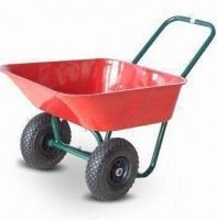 Wheelbarrow  with double   pneumatic wheels