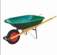 wooden handle wheel  barrow