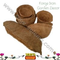 Coco liner for iron basket planter