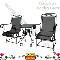 Iron metal table chair sets