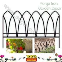 Decorative iron garden fencing