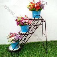Iron flower stand three layer