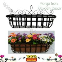 Iron hanging basket window box