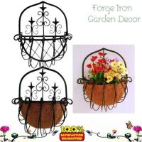 Iron hanging basket planter