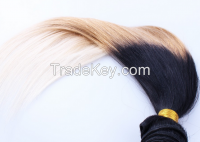 Machine Weft Straight Human Hair Extensions