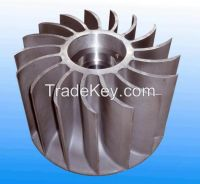 Precoated Sand Cast Steel Impeller for Metallurgical Mining Equipment