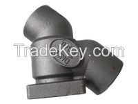 Sodium Silicate Precision Casting Steel All Flanged Tee Parts for Chemistry, Light Industry and Agriculture