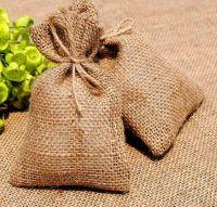 Eco Friendly Jute Burlap Drawstring Gift Bag