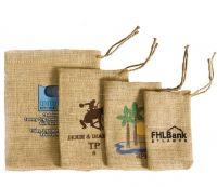 Natural Burlap Drawstring Bag