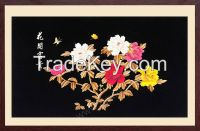 Lovely bird and lotus flower wall art painting