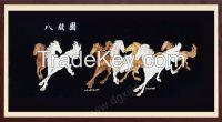 Chinese folk art running horse art painting