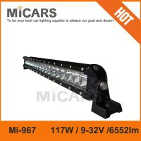 Real factory supplier 43 inch 117w 6552lm single row LED light bar
