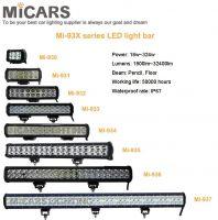 Dual row 4 inch 18w 1800lm LED light bar
