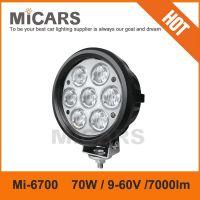 High brightness 6 inch 70w 7000lm LED work light