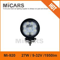 27w spot/floor magnetic base LED working lights for heavy duty off road truck