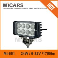 Real factory supplier 6 inch 24w 1750lm LED work light