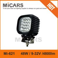 Super bright 5 inch 48w 4800lm LED work light