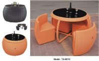 Garden furniture, Table, Outdoor Patio Rattan Bar Set, All Weather Furniture, PE Wicker Garden Bar Set Garden Furniture