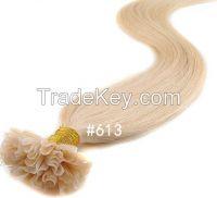 U Tip hair Fushion Hair Keratin Glue Indian Remy Human Natural Hair
