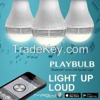 wireless bluetooth smart led light bulb speaker