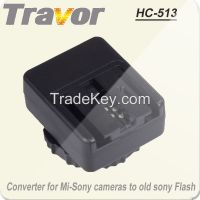 Travor HC-513 professional hot shoe adapter for Mi-Sony dslr camera  to old Sony flash