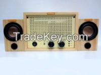 Classic Design Wooden Vacuum Tube Amplifier with Bluetooth