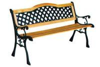garden chair wood cast iron