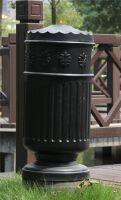 outdoor trash can cast alluminum