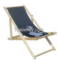 Folding Wooden Deck Chair
