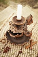 Ceramic candlestick candle holder