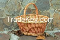 Eco friendly wicker basket