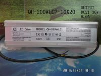 waterproof  LED driver 200W 190W 180W 170W 6A 7-10S-20PX1 CE QiHan constant current power supply lighting transformer