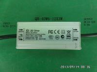 Waterproof LED driver 36W 33W 30W 27W 24W 21W 0.9A 6-12X3 CE QiHan all aluminum case constant current power supply transformer