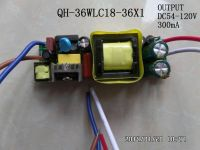 LED driver 36W 30W 27W 25W 24W 22W 20W 300mA 18-36S-1PX1 CE Qihan built in constant current power supply lighting transformer