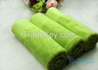Bright colored hotel bath towel