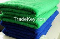 Bright colored bath towel
