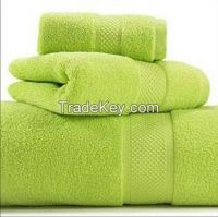 Washable Terry Cloth Light Green Towel