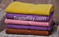 Stain cotton bath towel for hotel