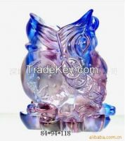 chinese gift lead crystal liu li cicada pen holder
