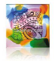 colorful liu li brick art glass craft crystal decorations