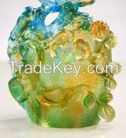 Crystal Ornaments--------Liu li Orchid Pen Holder