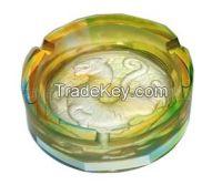round liu li white tiger ashtray for desktop crystal decorations
