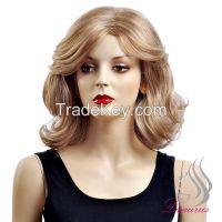 Lisaurus-J Brethable Wig!2015 New Style Gorgeous Natural Wig 100% Kankelon Wavy Hair Medium Long Mommy Wig No Shedding No Tangle