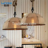 2016 year Best QualityArchaize industrial single head wind linen droplight/ restaurant bar cafe creative personality room light